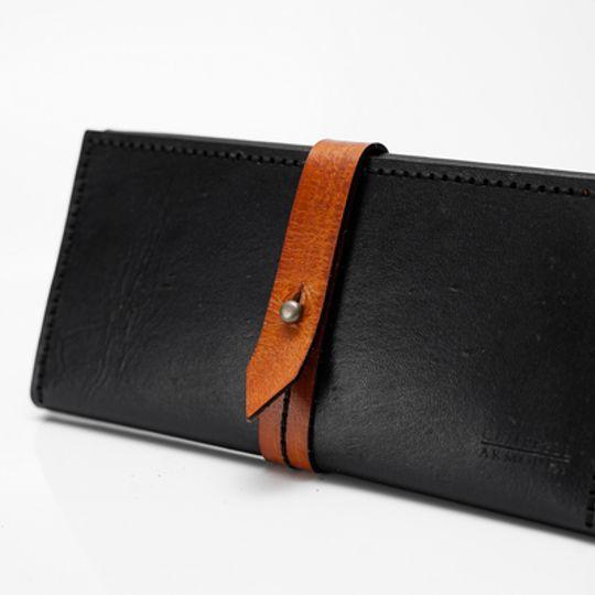 Ladies Wallet - Black and Tan
