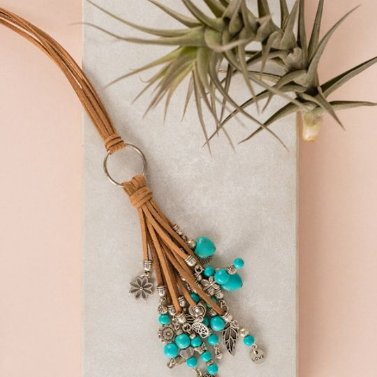 Long Tassel Necklace - Turquoise