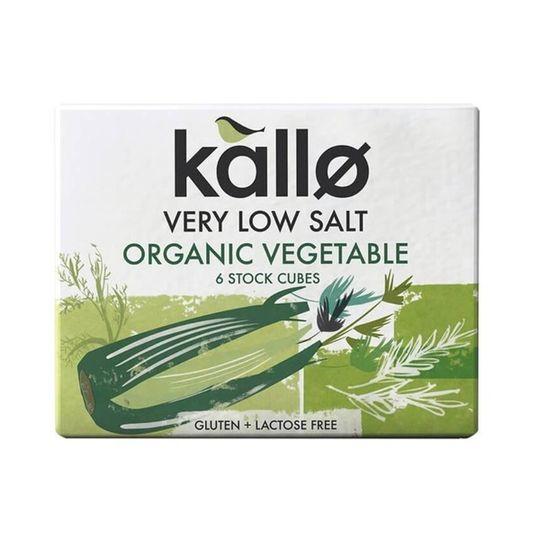 Kallo Organic Low-Salt Vegetable Stock Cubes (66g)