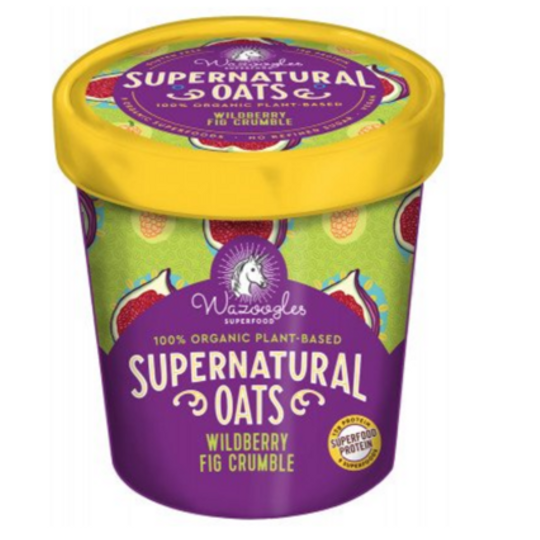 Wazoogles Supernatural Oats - Wild Berry Fig Crumble 300g carton