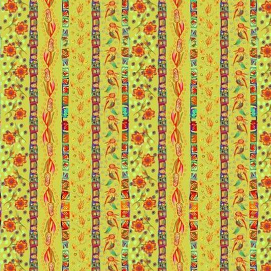 Flower Stripes: Table Cloth / Per Meter