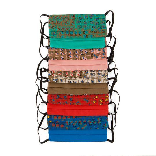 Colour cotton masks - collection of 10