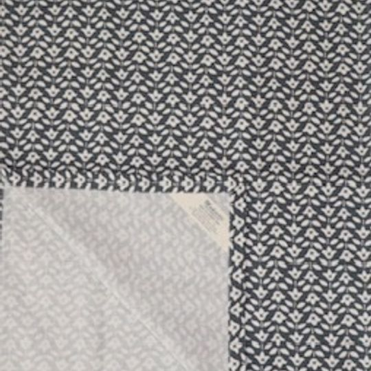 charcoal miniflower print on 100%cotton
