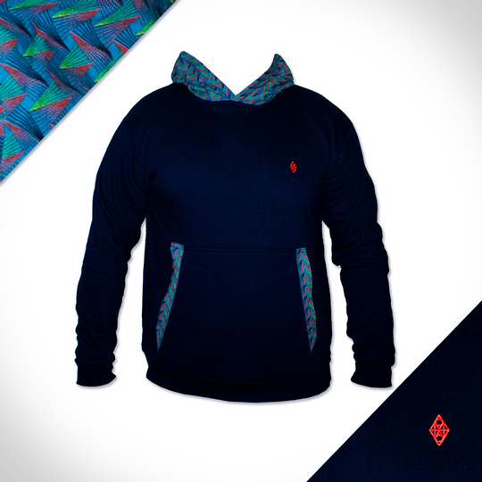 Peacock Hooded Weave - Navy