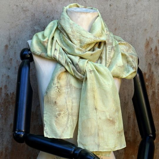 Silk Scarf Minty Green