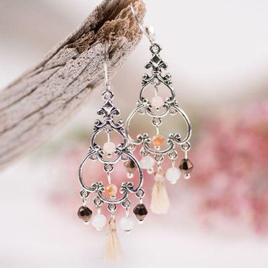 Filigree Chandelier Crystal Earrings