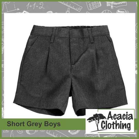 Boys Grey School Shorts