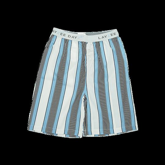 Boys Short Pants (Long Shorts) White Stripe