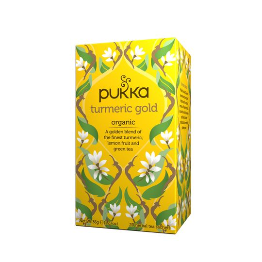 Pukka Organic Turmeric Gold Tea (box of 20 teabags)