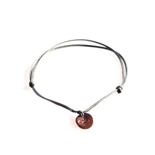 DAINTY Single Thread Bracelet Infinity - Grey