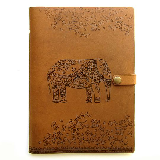 Journal (A5 size)  - Decorated Elephant