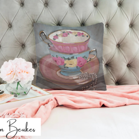 Two Teacups | Original Cushion