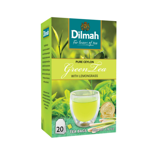 Dilmah Ceylon Green Tea with Lemongrass (20 x 2g tagged tea bags)