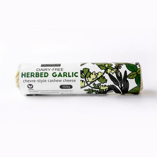 Fauxmage, Herbed Garlic Chevre Style Cashew Cheese, 150g