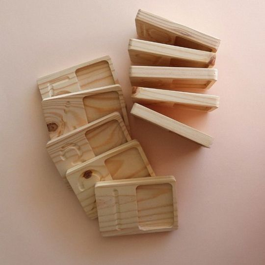 WOODEN NUMBER COUNTING TRAYS