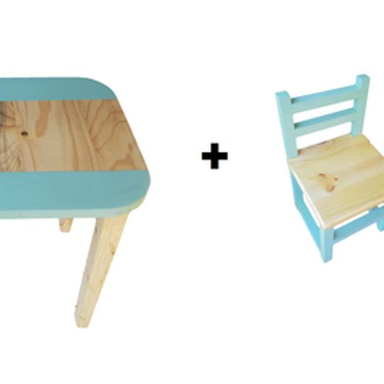 Rectangular Table (Medium) and  2 Chairs Set