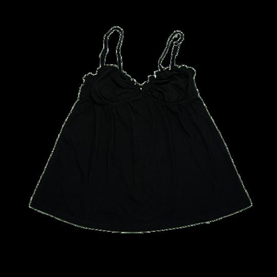Ladies Strappy - Frill Black