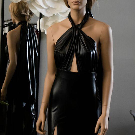 Black metallic infinity dress