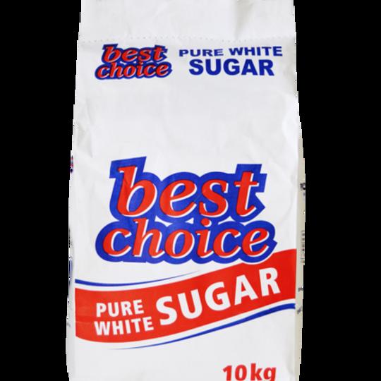 10kg Best Choice Pure White Sugar.