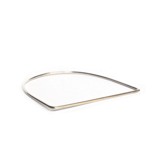Silver Bangle - U-Shape