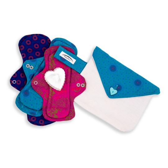 MoonTime Reusable Cloth Pads | Teen Starter Set