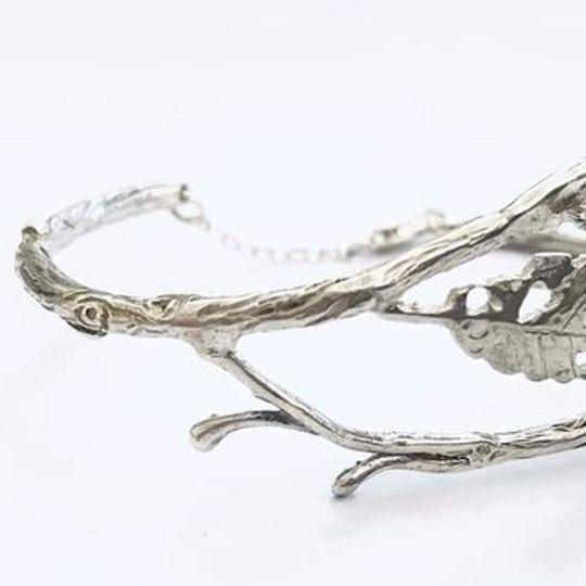 Silver Leaf cuff