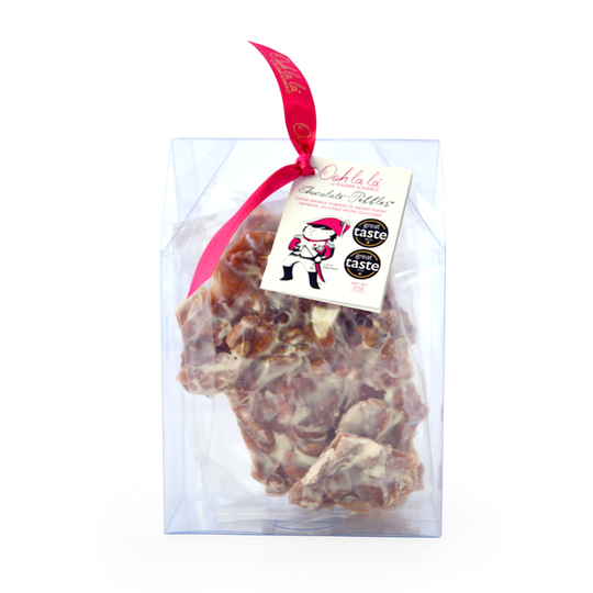 Pecan Pebbles® in White Chocolate 200g