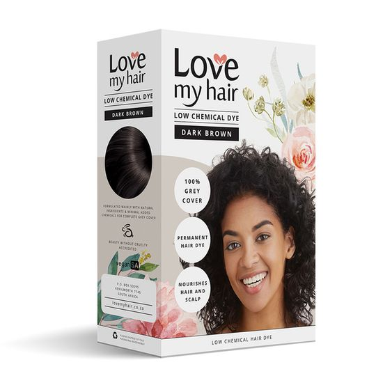 Love My Hair Low Chemical Dye - Dark Brown
