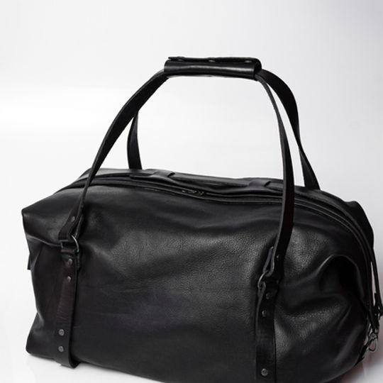 The Leather Duffle Bag - Black