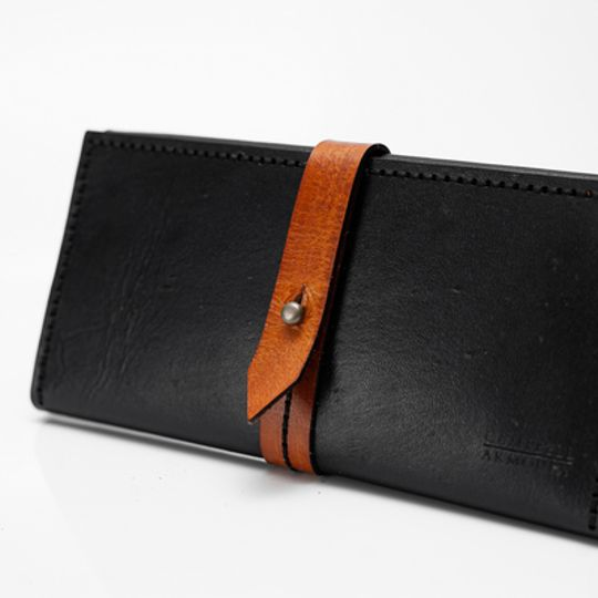 Ladies Wallet - Black and Tan
