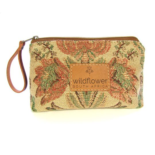 Zip Pouch - Protea Tapestry