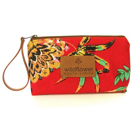 Zip Pouch - Red Floral