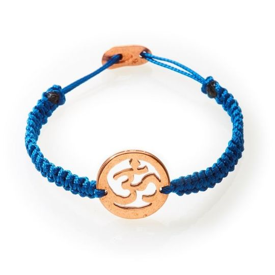 ICON Macrame Bracelet Om - Navy Blue