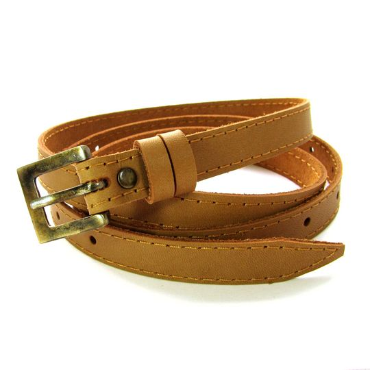 Skinny Belt - Tan