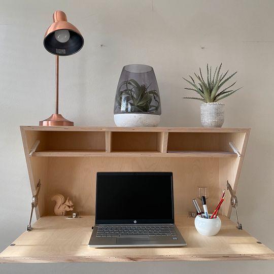 WFH Range: Floating Desk & Shelf (Triangle Sides)