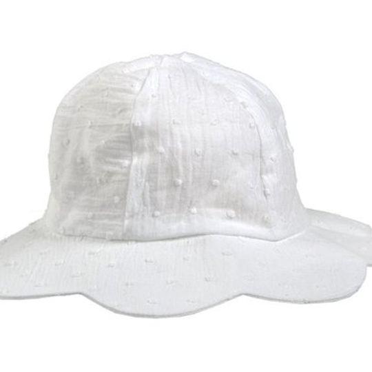 Hat / Girls - White Petal - M0036