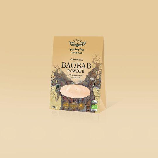 SOARING FREE SUPERFOODS Organic Baobab Powder - 200g