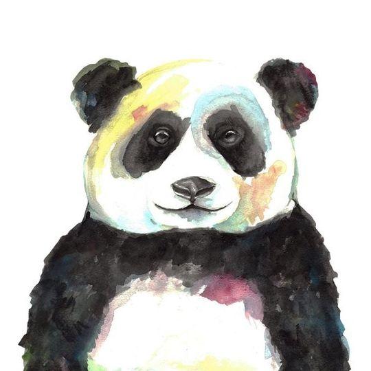Watercolour Panda Decal