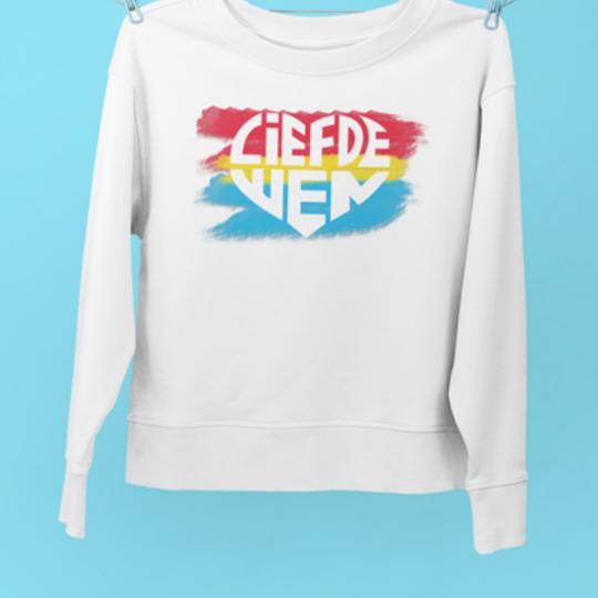 Liefde Wen Wit Retro Sweater