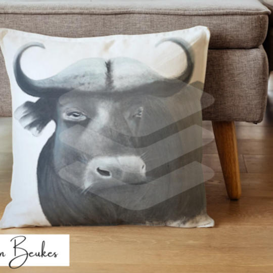 African Buffalo | Original Cushion