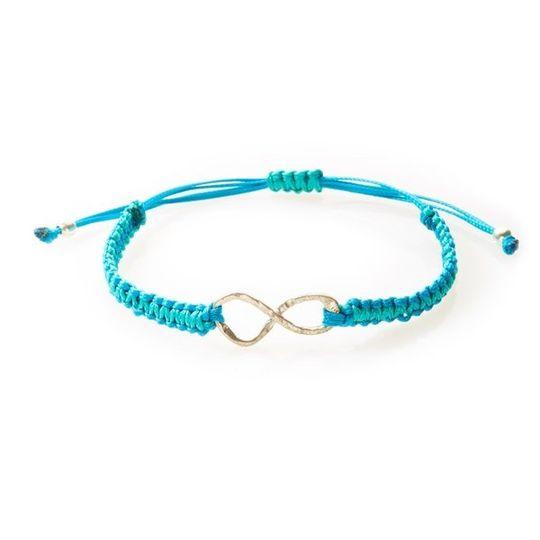 COOL Macrame Bracelet Infinity - Turquoise/Teal