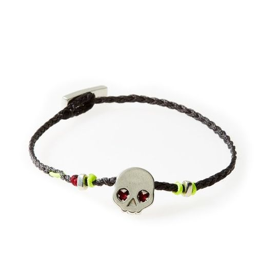 LEGEND Braided Bracelet Skull - Dark Grey