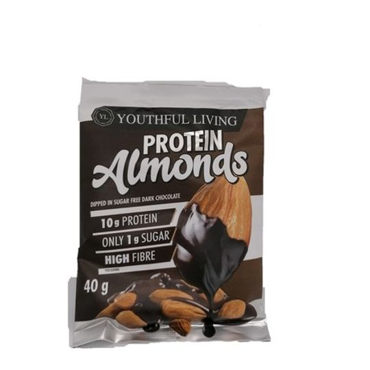 Protein Almonds Dark Choc (40g)