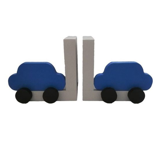 Little Blue Car Bookends