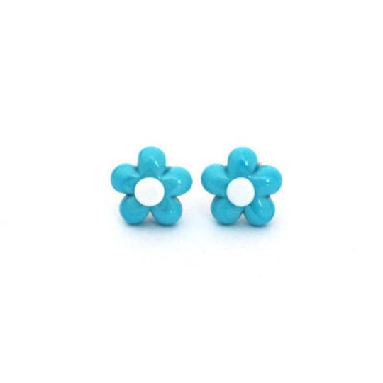 Glass Daisy & Silver Studs