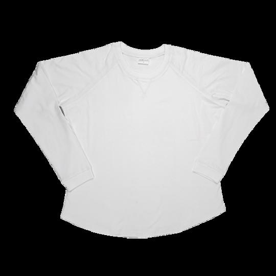 Ladies Long Sleeve - V-Detail White