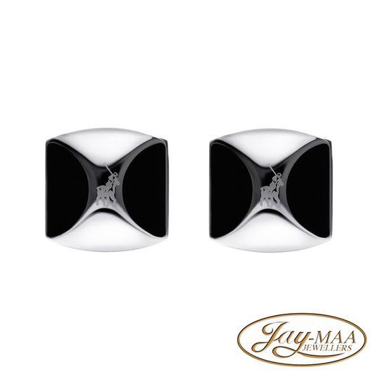 Polo Cufflinks Shiny + Semi Circle Enamel