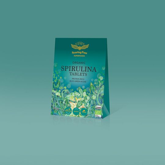 SOARING FREE SUPERFOODS Organic Spirulina Tablets - 100g