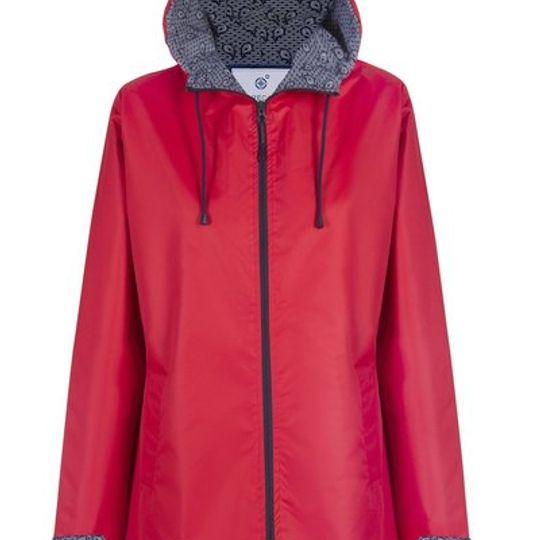 Red Long Length Raincoat