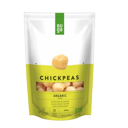 Auga organic chickpeas in brine 400g